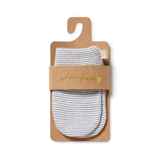 Wilson and Frenchy Organic Stripe Rib Mittens - Raindrop