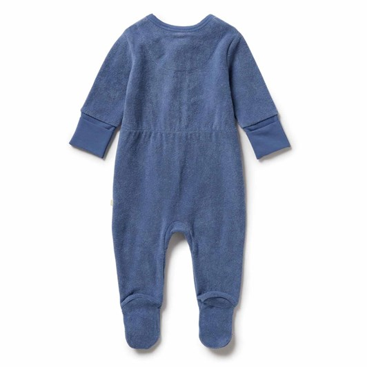 Wilson and Frenchy Organic Terry Zipsuit - Raindrop