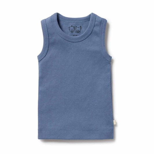 Wilson and Frenchy Organic Pointelle Singlet - Raindrop