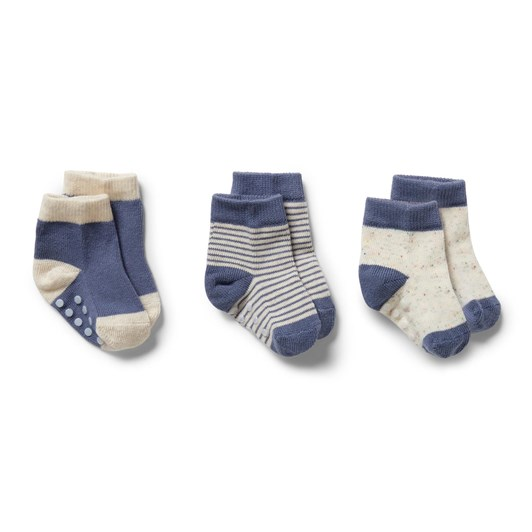 Wilson and Frenchy 3 Pack Baby Socks - Raindrop