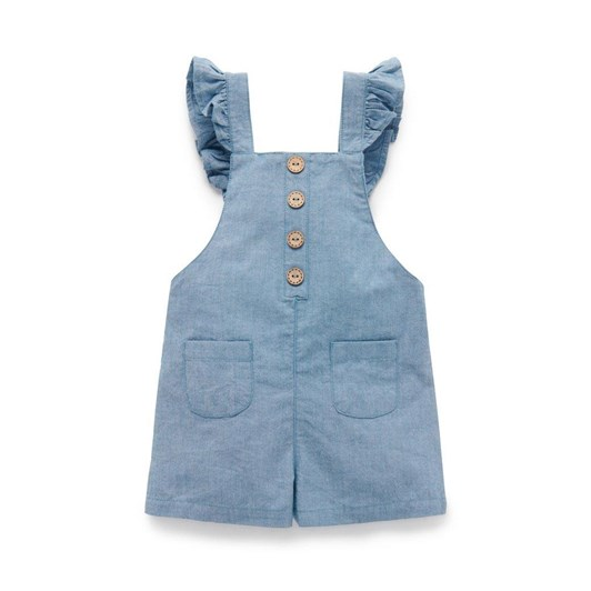Purebaby Button Front Shortie Overall
