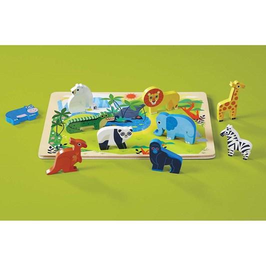 Croc Creek 16Pc Wooden Puzzle Zoo