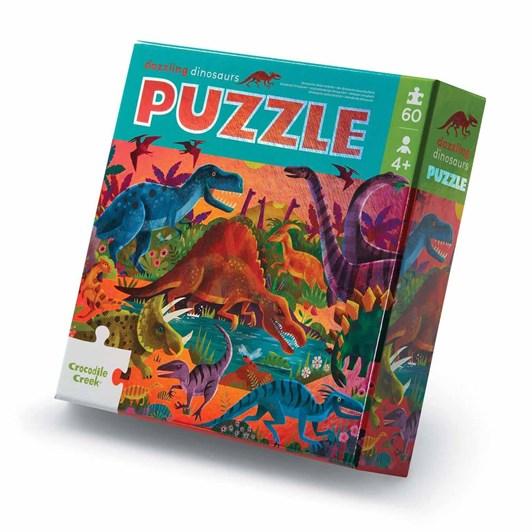 Croc Creek 60Pc Foil Puzzle Dazzling Dinos