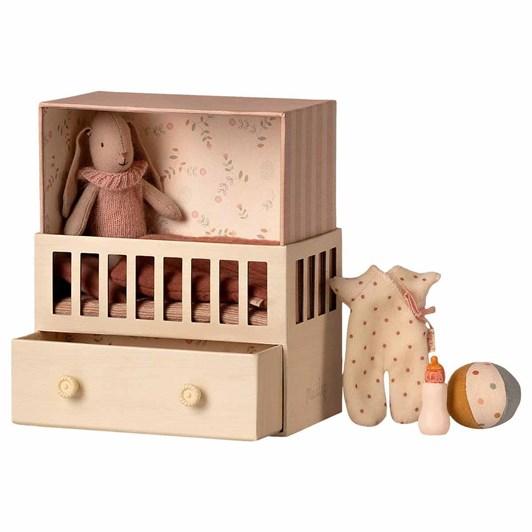 Maileg Baby Room w. Micro Bunny