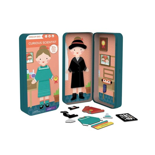 MierEdu Travel Magnetic Puzzle Box - Dream Big Series Curious Scientist