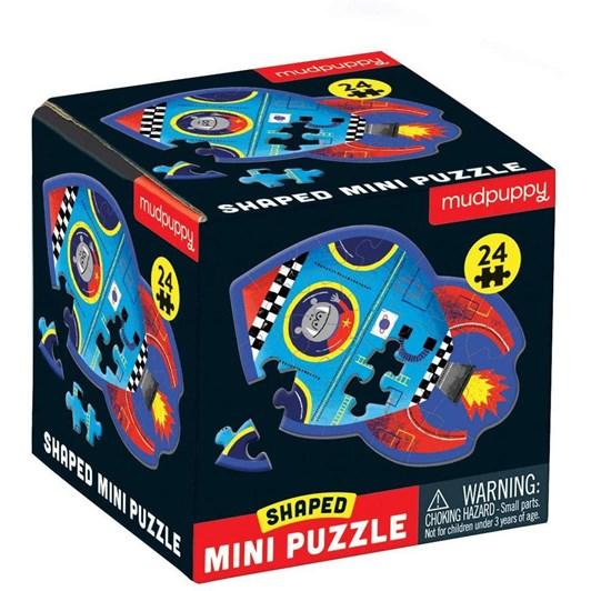 Mudpuppy Spaceship, Shaped Mini-Puzzle, 24Pcs