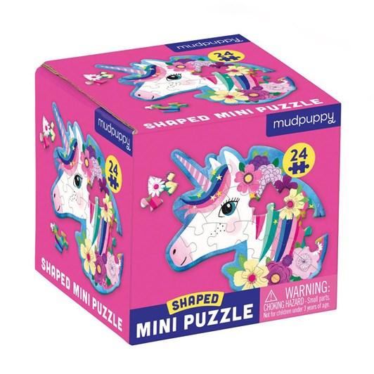 Mudpuppy Unicorn 24 Piece Shaped Mini Puzzle