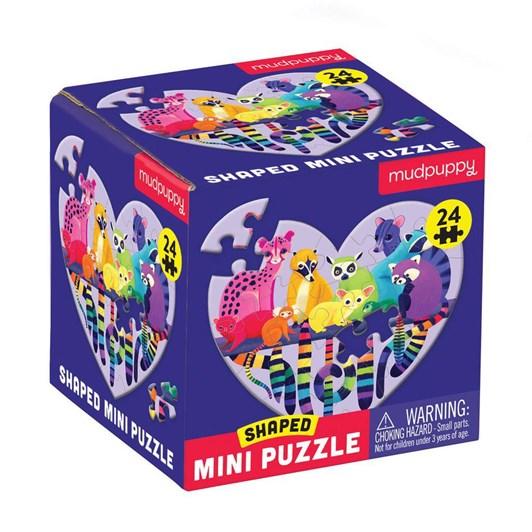 Mudpuppy Love In The Wild 24 Piece Shaped Mini Puzzle
