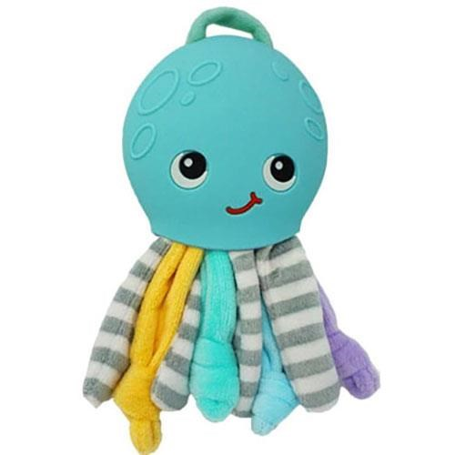 Silli Chews Ollie Octopus Teether Buddy Blue