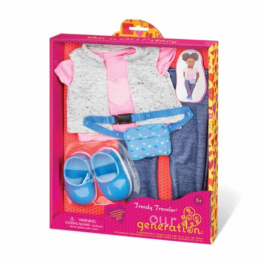 Our Generation Dolls Regular Outfit - Trendy Traveler Pack