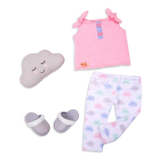 Our Generation Dolls Regular Outfit Pajama W/Cloud Print & Pillow