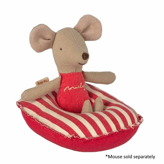 Maileg Rubber Boat Small Mouse Red Stripe