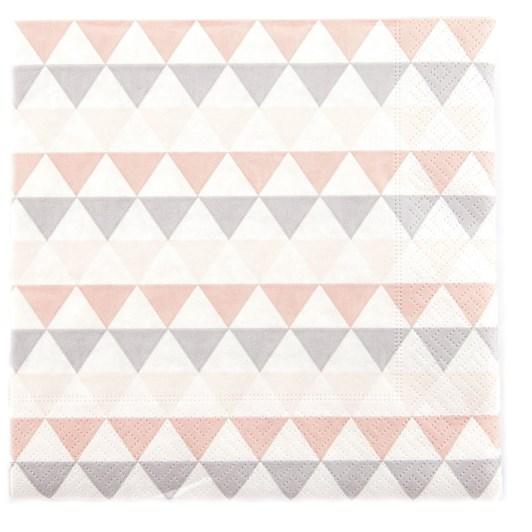 Triangle Pattern Luncheon Napkin
