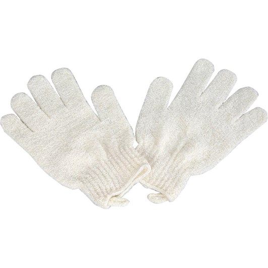 QVS Flax Exfoliating Gloves