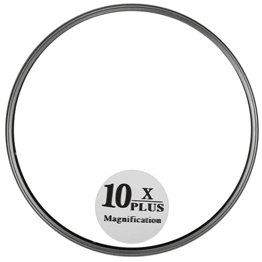 QVS 10X Magnifying Mirror with Suction Caps