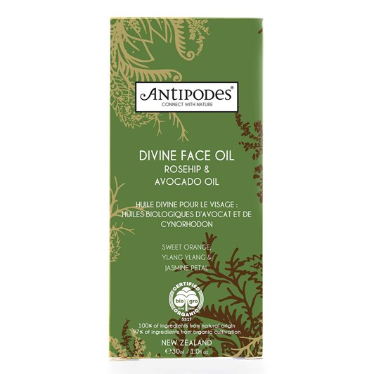 Antipodes Divine Face Oil; Organic Avocado Oil & Rosehip 30ml