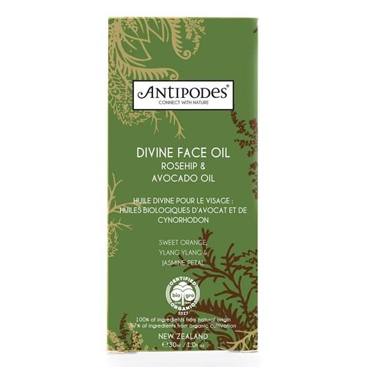 Antipodes Divine Face Oil; Organic Avocado Oil & Rosehip 30ml