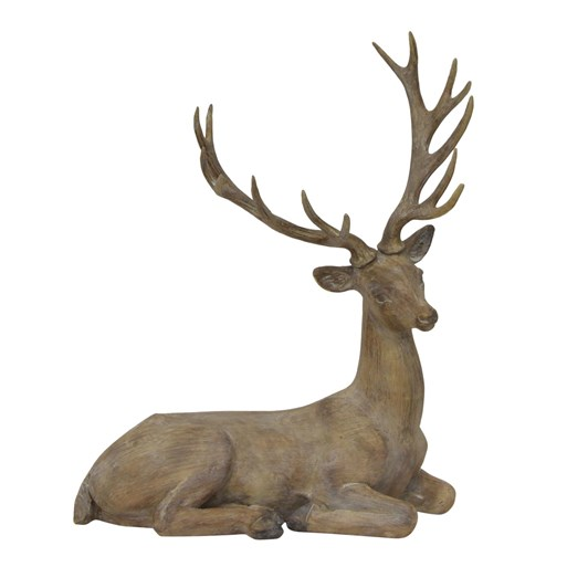 French Country Reindeer Natural Sitting Décor