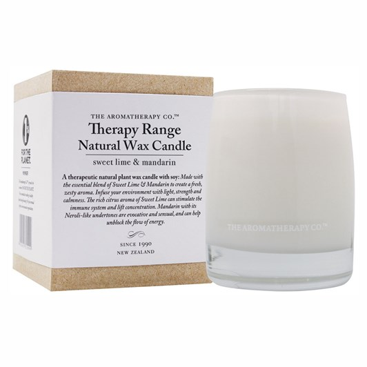 The Aromatherapy Co Natural Wax Candle - Sweet Lime & Mandarin