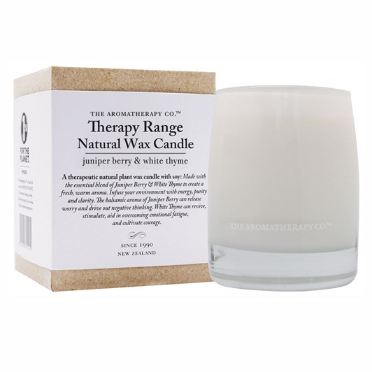 The Aromatherapy Co Natural Wax Candle - Juniper Berry & White Thyme