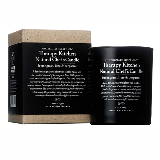 Therapy Kitchen Scented Candle Lemongrass, Lime & Bergamot 200g