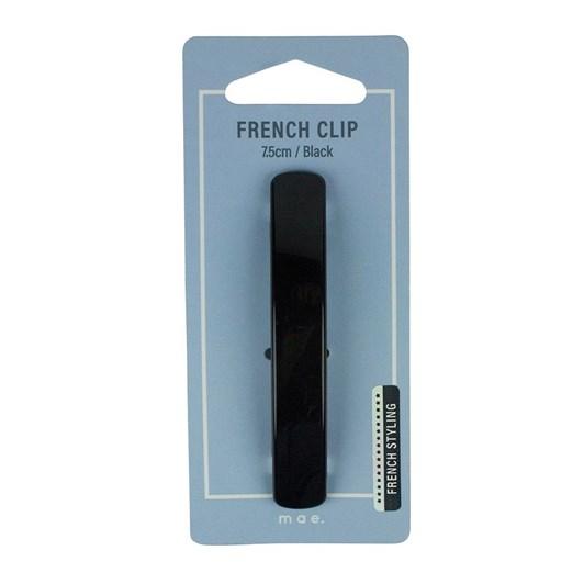 Mae French Clip 7.5cm Black