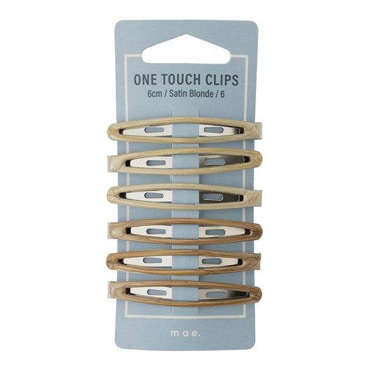 Mae One Touch Clips 6cm Satin Blonde (6)