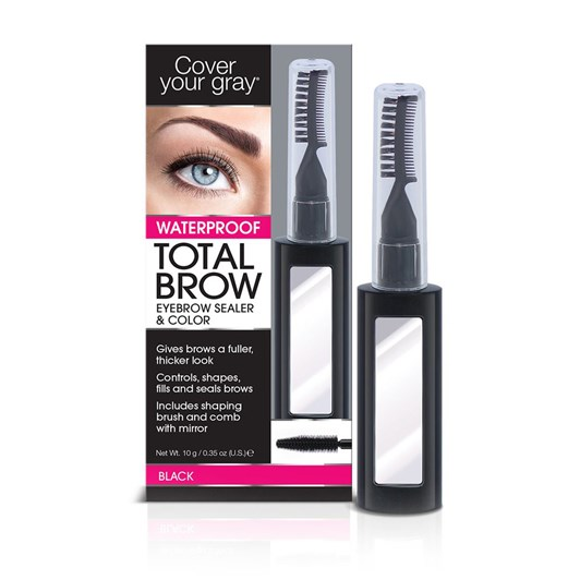 Cover Your Gray Total Brow Eyebrow Sealer & Color - Black