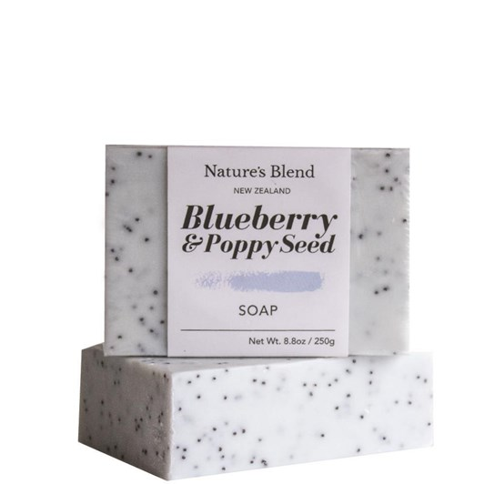 Natures Blend Soap Bar Blueberry & Poppy Seed - 250g