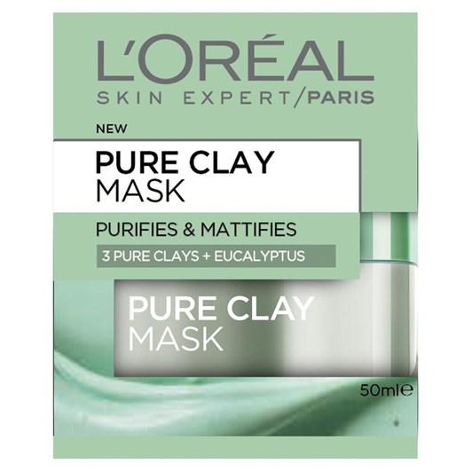 L'Oreal Paris Pure Clay Mask Purify&Mattify 50Ml