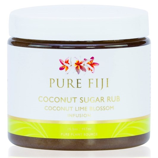 Pure Fiji Coconut Lime Blossom Sugar Rub 457ml