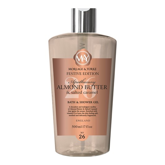 Morlage & Yorke Apothecary Almond Butter & Salted Caramel Shower Gel 500ml
