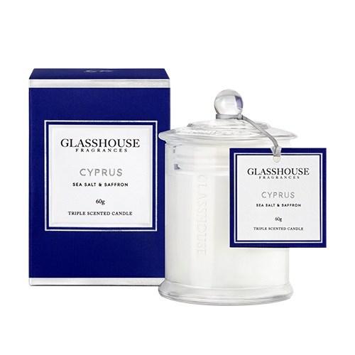 Glasshouse Cyprus Miniature Candle - Sea Salt & Saffron
