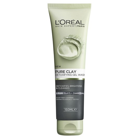 L'Oreal Paris Pure Clay Detoxifying Brightening And Cleansing Charcoal Gel