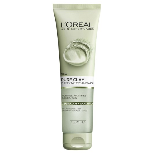 L'Oreal Paris Pure Clay Purifying Cream Cleansing Wash 150Ml