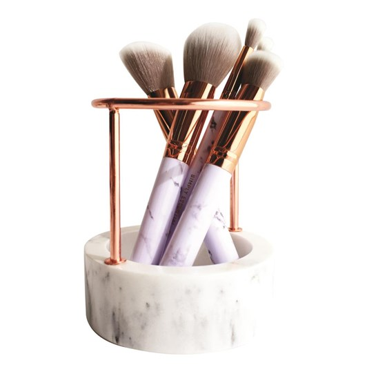 Simply Essential Rose Gold Marble Brush Stand