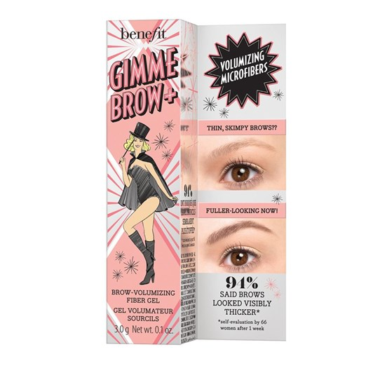 benefit gimme brow+ volumizing eyebrow gel shade 3 neutral light brown