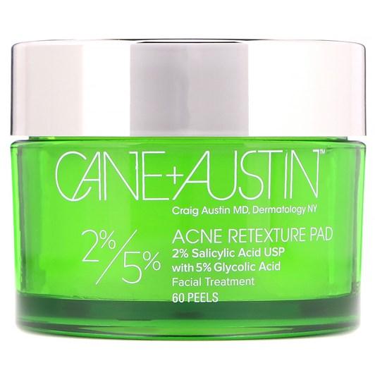 Cane+Austin Acne Retexture Pad 5% Glycolic Acid and 2% Salicylic Acid