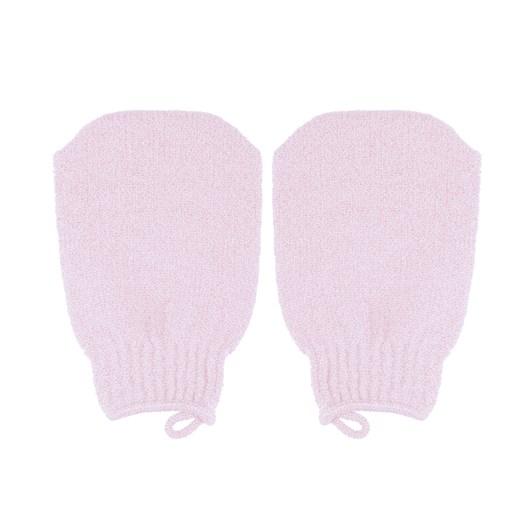 Qvs Exfoliating Mitten Pastel Pink