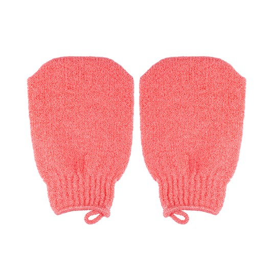 Qvs Exfoliating Mitten Red Sorbet