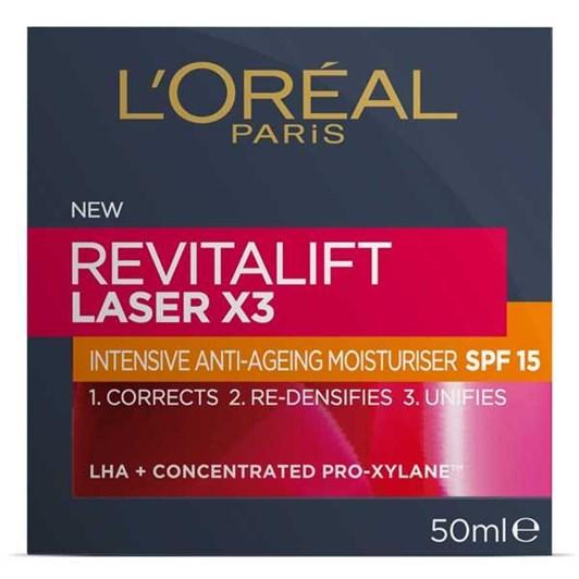L'Oreal Paris Revitalift Laser x3 Moisturiser SPF15
