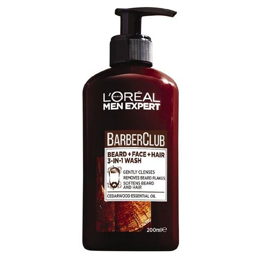L'Oreal Paris Men Expert Barber Club Beard, Face & Hair Wash 200ml