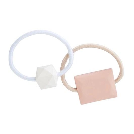 Mae Elastics Geometric Pink/White (2)