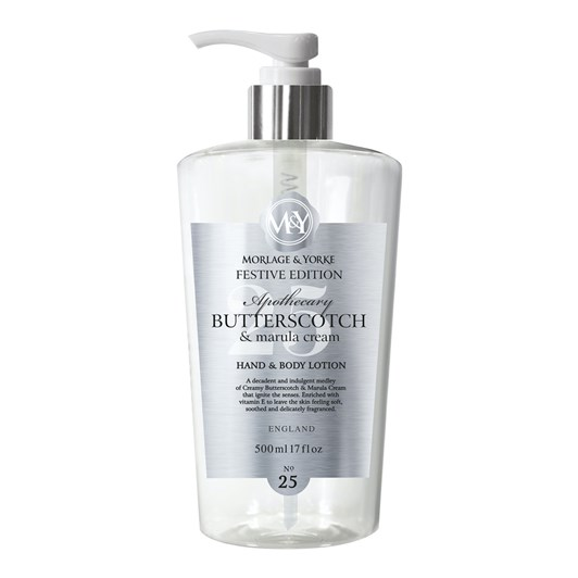M&Y Apothecary Butterscotch & Marula Cream Hand & Body Lotion 500ml