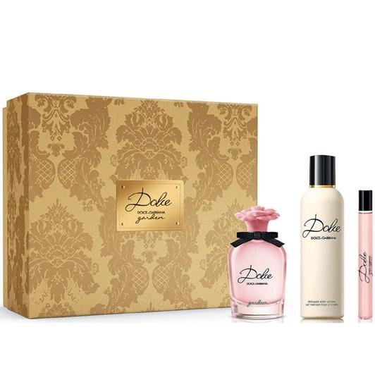 Dolce & Gabbana Dolce Garden Trio Set EDP 75ml + BL 100ml + Travel Spray