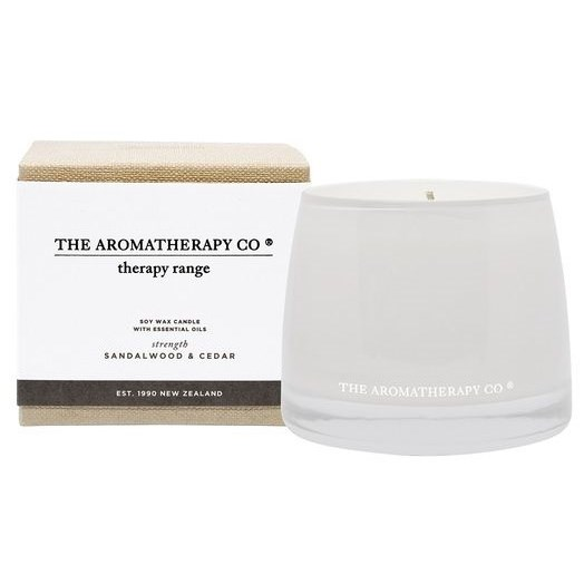 Therapy Candle Strength 260g Sandalwood and Cedar