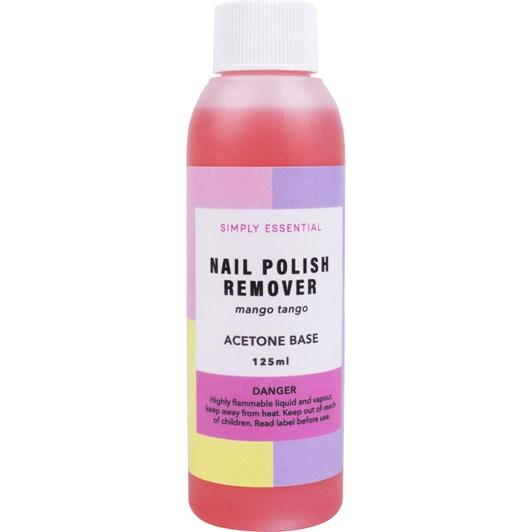 Simply Essential Nail Polish Remover Mango Tango Acetone Base 125ml