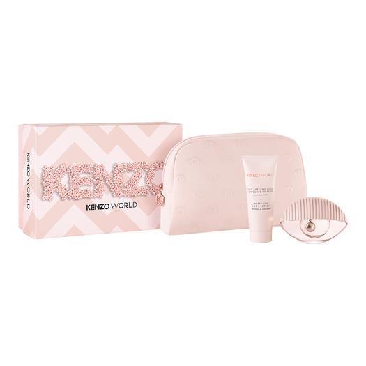 Kenzo World EDT 50ml & Body Milk 75ml & Pouch