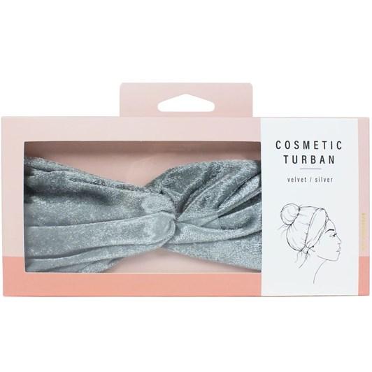 Simply Essential Velvet Cosmetic Turban Silver