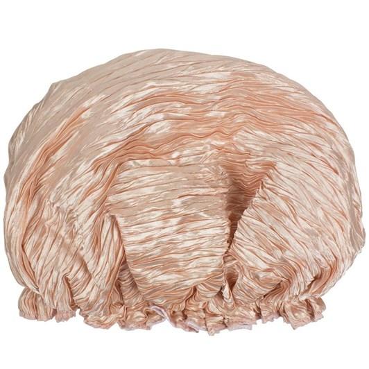 Simply Essential Crinkle Shower Cap Satin Pink